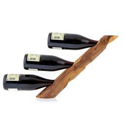 Βάση Κρασιού από Ξύλο Ελιάς - Κάβα Τριπλή