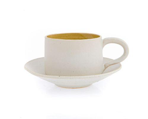 Σετ Καφέ & Τσαγιού - Κεραμικό, Εκρού