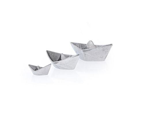 Βάρκες - Σετ 3 Μεταλλικές Διακοσμητικές, Ασημί