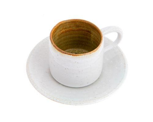 Φλυτζάνι Καφέ - Κεραμικό, Λευκό - Μπεζ