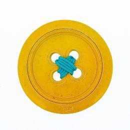 Κίτρινο Κεραμικό Κουμπί - Μοντέρνο Διακοσμητικό Τοίχου – Μικρό