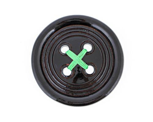 Μαύρο Κεραμικό Κουμπί - Μοντέρνο Διακοσμητικό Τοίχου – Μεγάλο