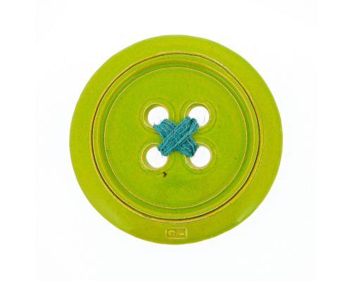 Πράσινο Κεραμικό Κουμπί - Μοντέρνο Διακοσμητικό Τοίχου – Μικρό