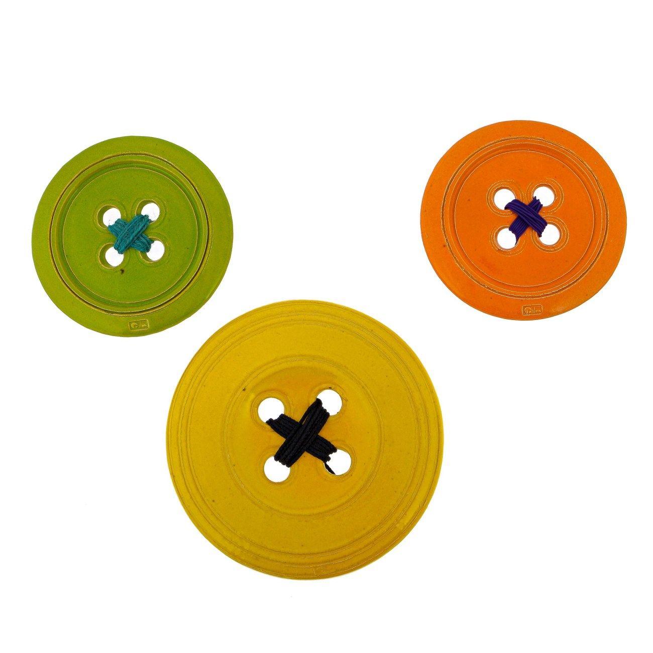 Ceramic Orange Button - Modern Handmade Wall Art Decor - Large Size ...