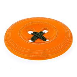 Πορτοκαλί Κεραμικό Κουμπί - Μοντέρνο Διακοσμητικό Τοίχου – Μεγάλο