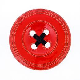 Κόκκινο Κεραμικό Κουμπί - Μοντέρνο Διακοσμητικό Τοίχου – Μεγάλο