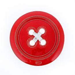 Κόκκινο Κεραμικό Κουμπί - Μοντέρνο Διακοσμητικό Τοίχου – Μικρό